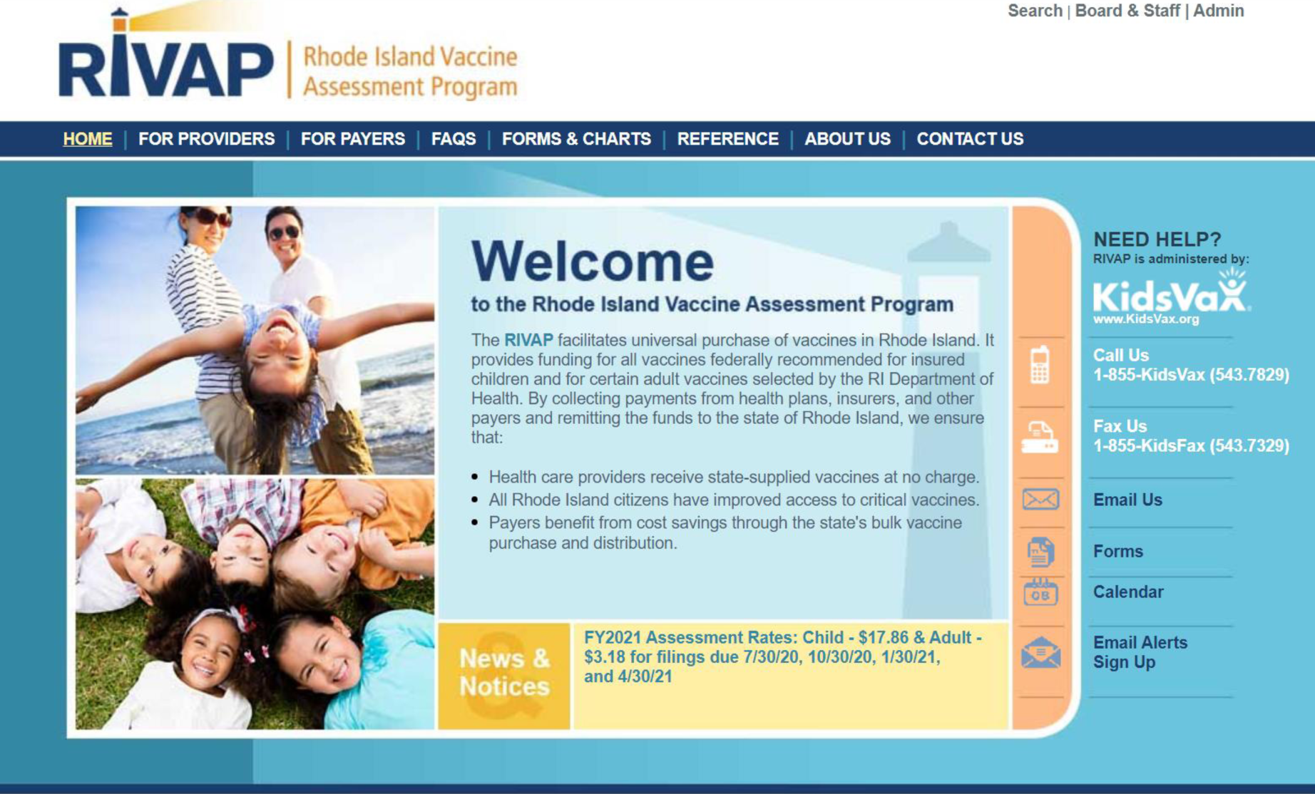 Rhode Island Vaccine Assessment